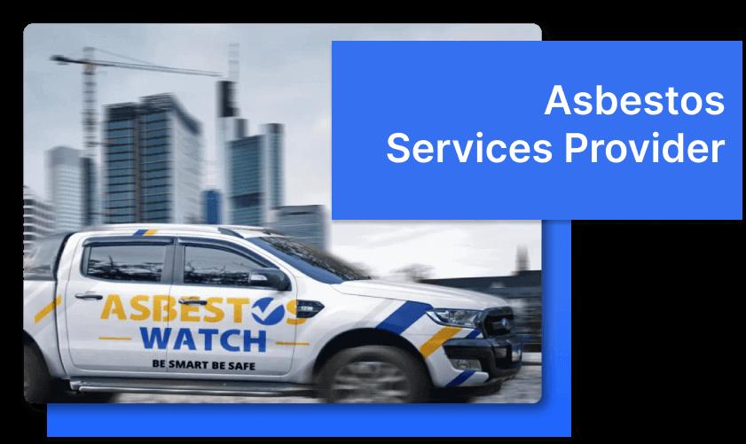asbestos services truck